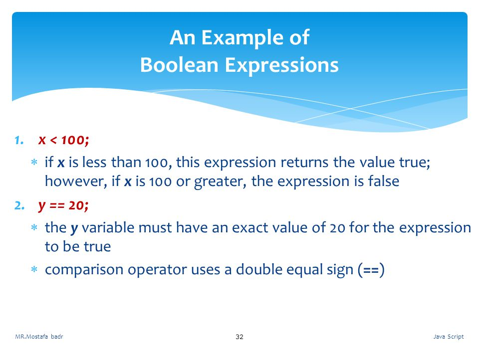 An Example of Boolean Expressions