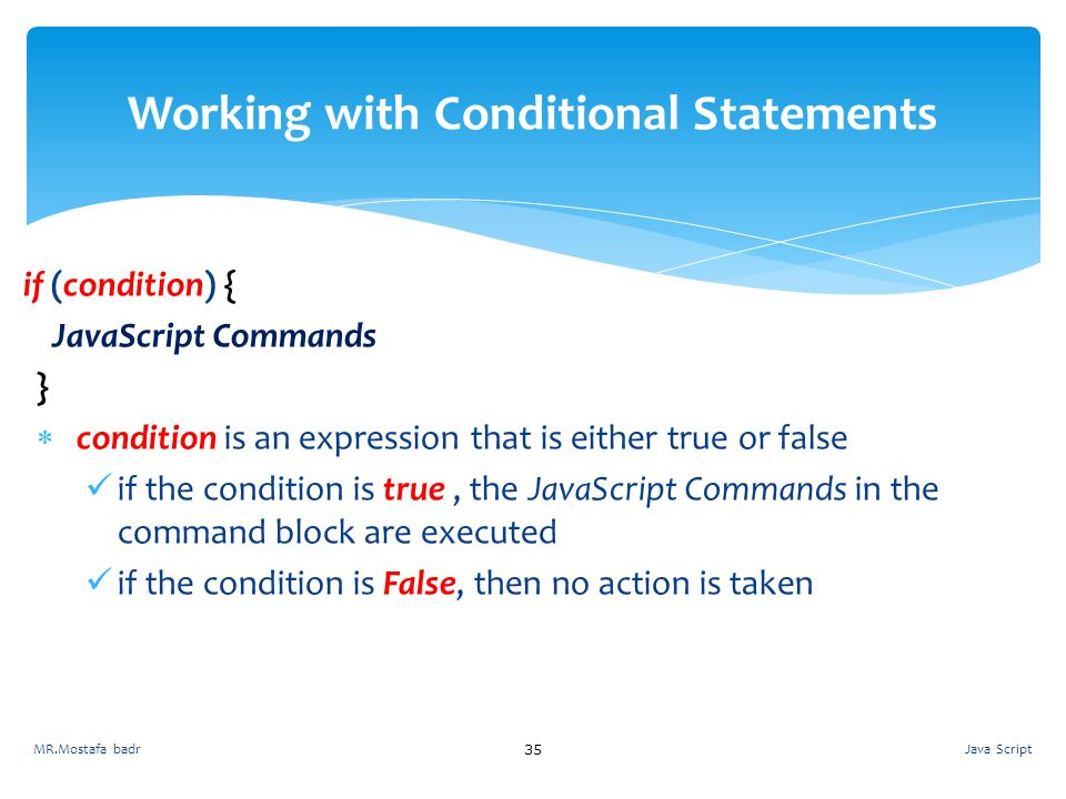 Working with Conditional Statements