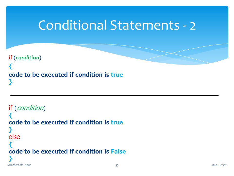Conditional Statements - 2
