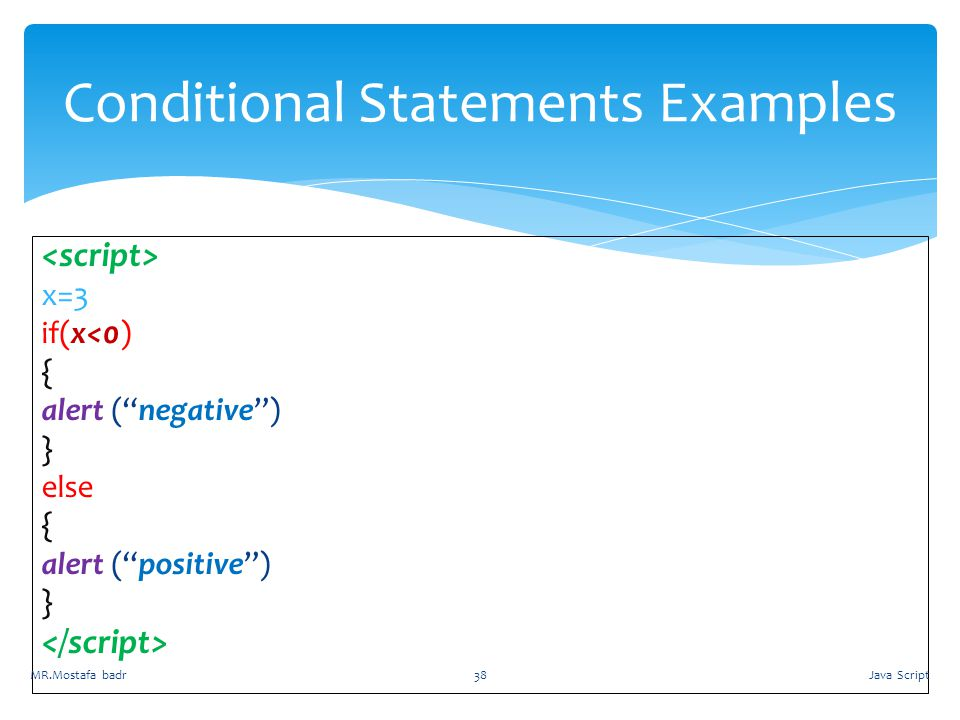 Conditional Statements Examples