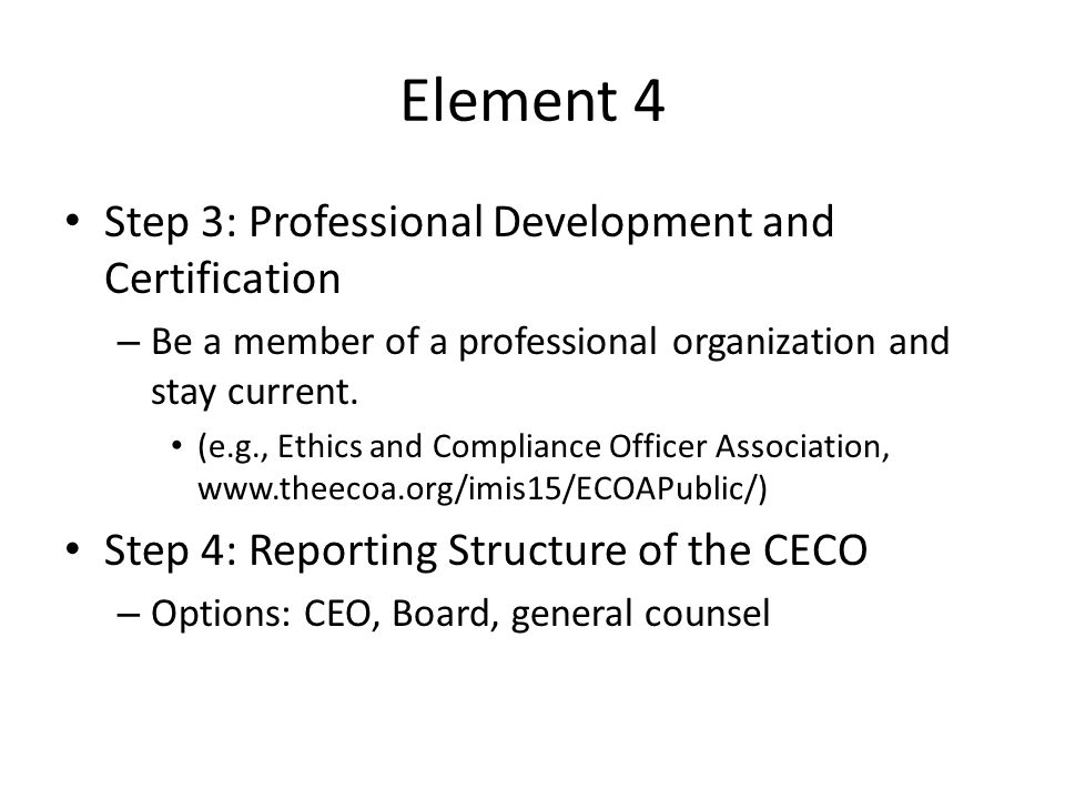 Corporate ethics compliance ppt download - Ethics and compliance officer association ...