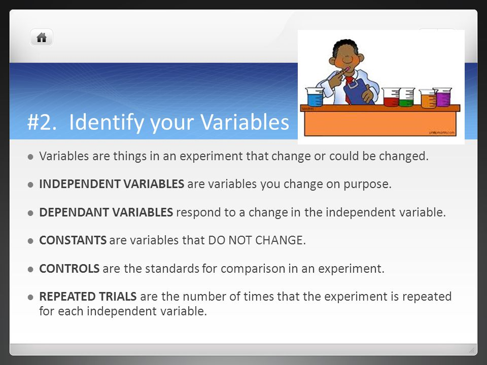 #2. Identify your Variables