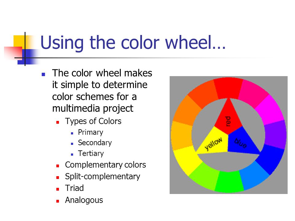Using The Color Wheel Makes It Simple To Determine Schemes For