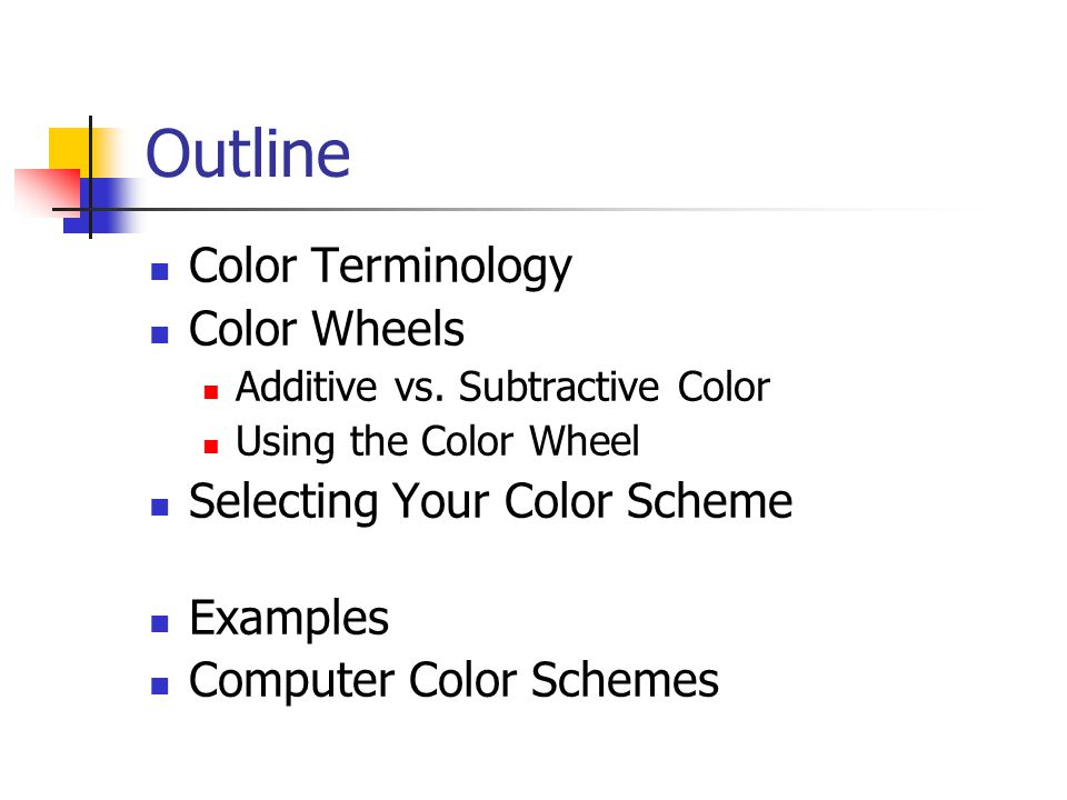 Examples Of Color Schemes the importance of color - ppt video online download