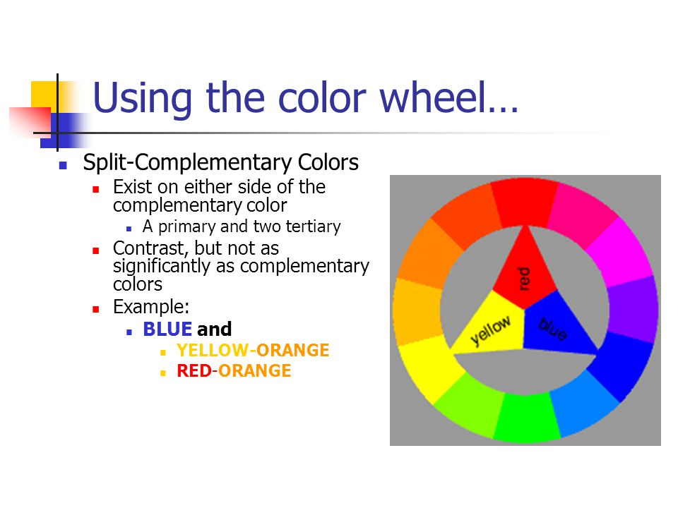 Using The Color Wheel Split Complementary Colors
