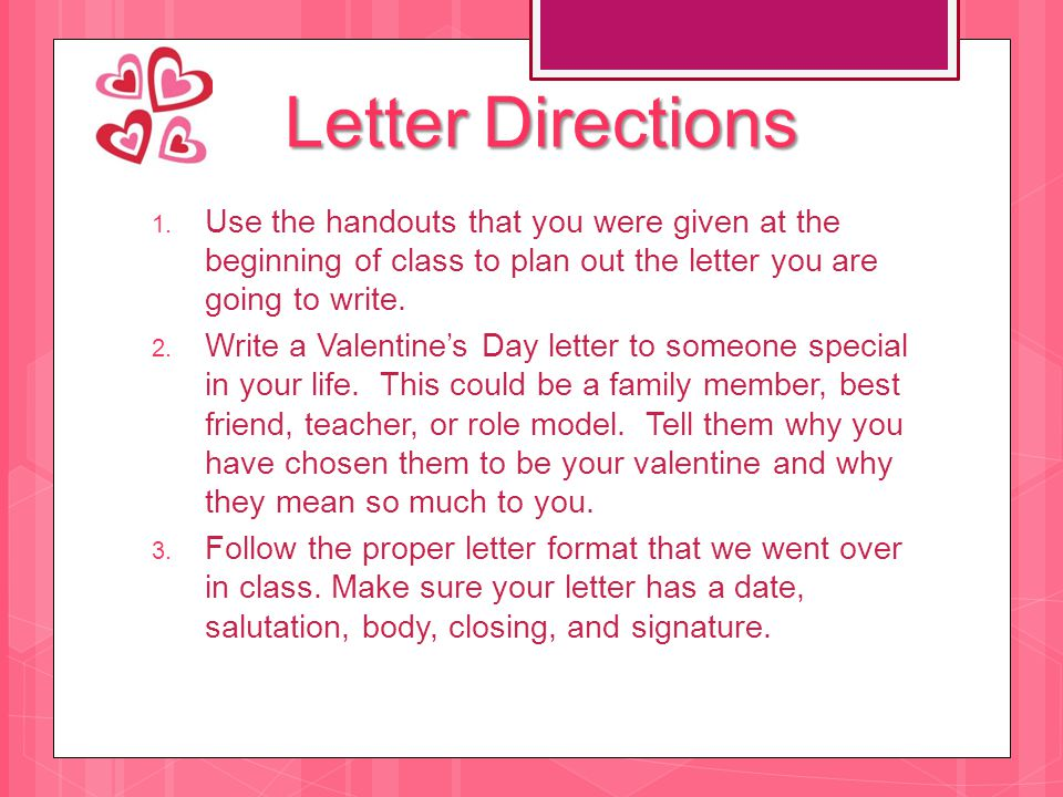 Valentines Day Letter  ppt download
