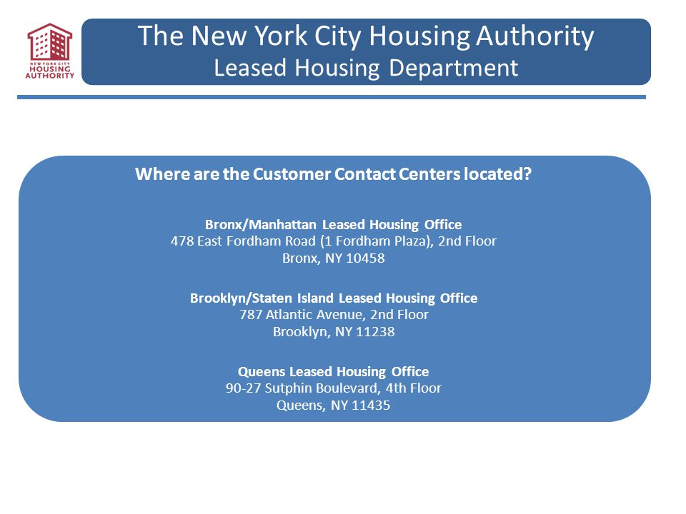 The New York City Housing Authority Leased Housing