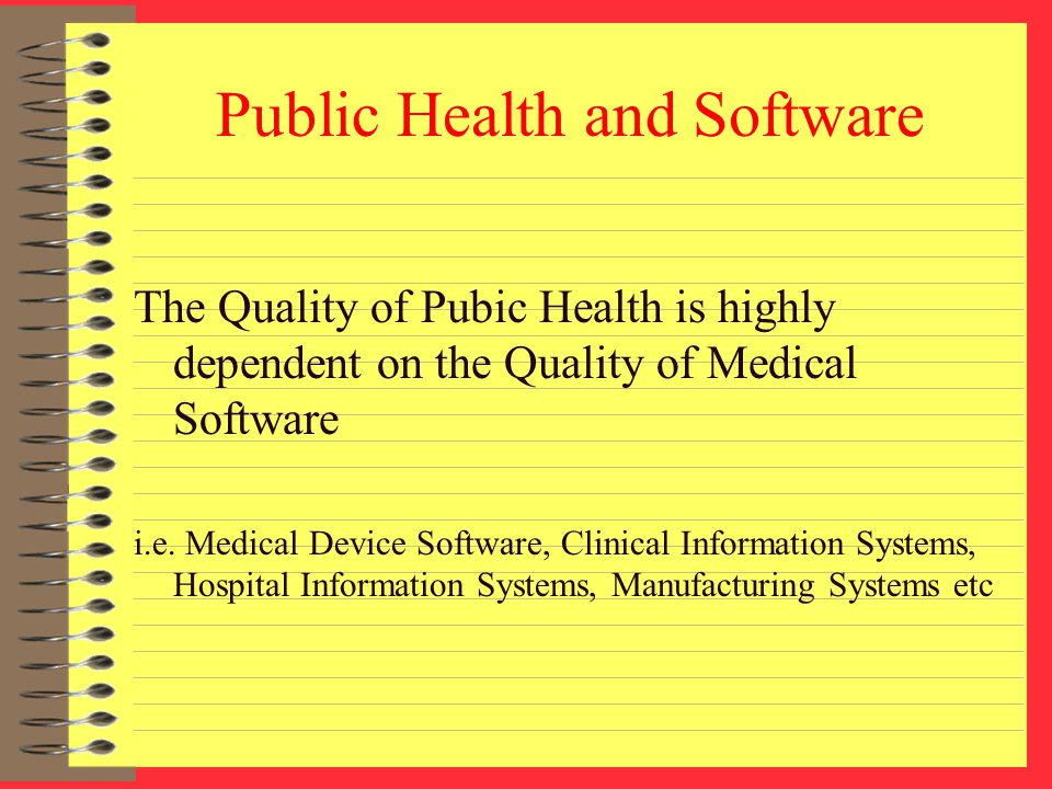 Public Health and Software