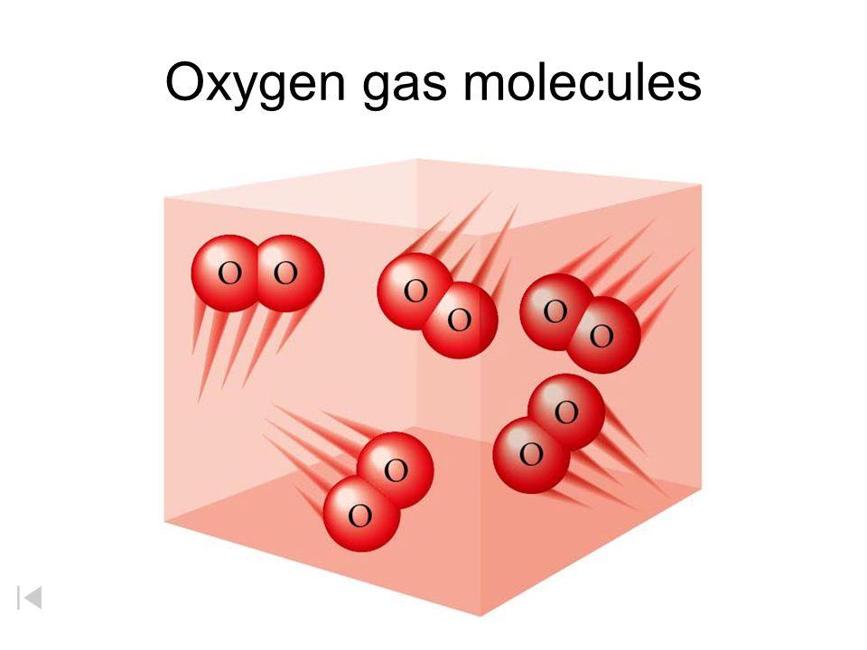 Oxygen gas molecules