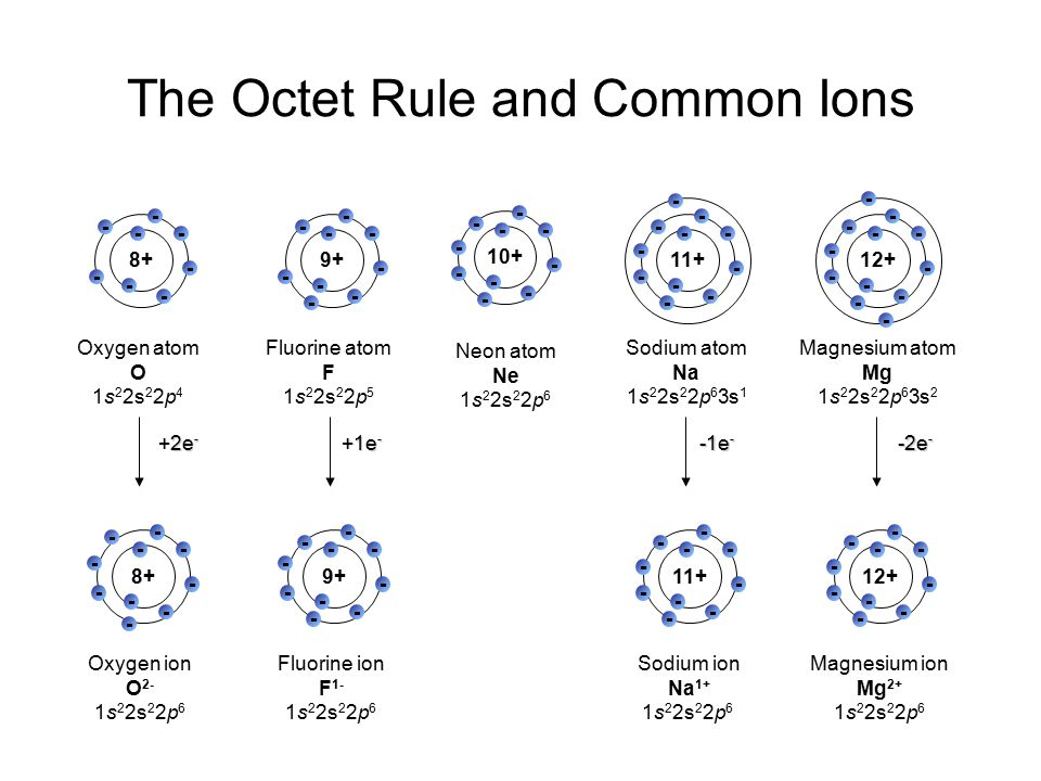 The Octet Rule and Common Ions