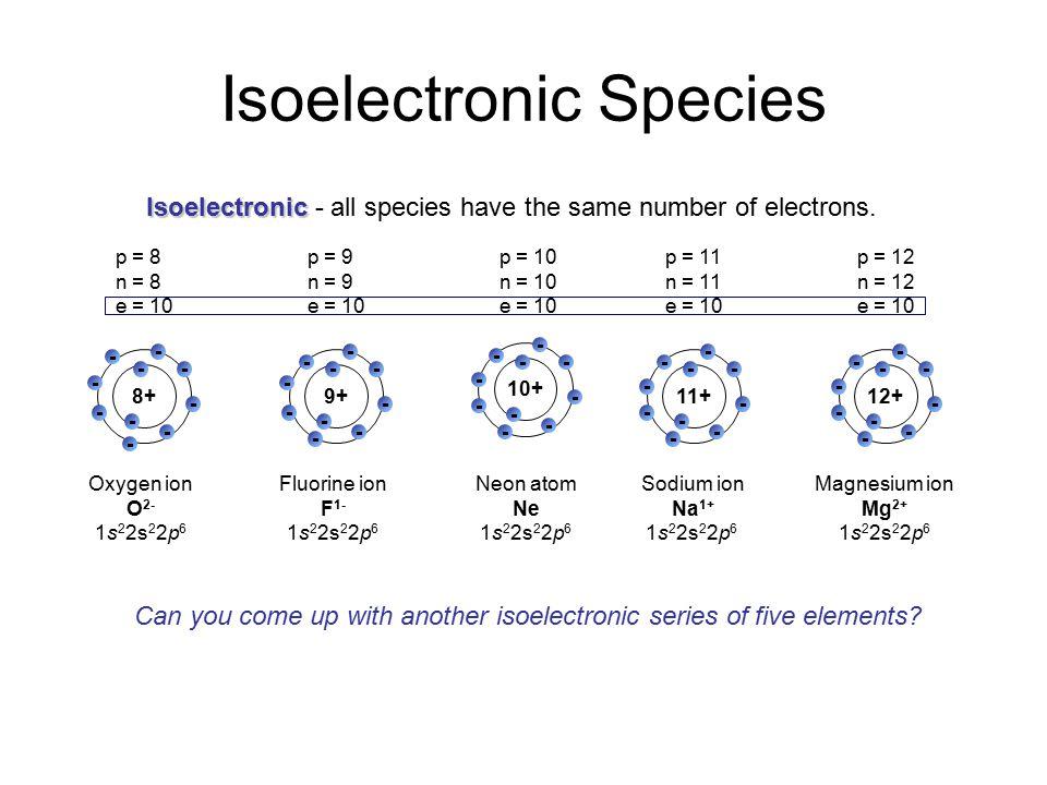Isoelectronic Species