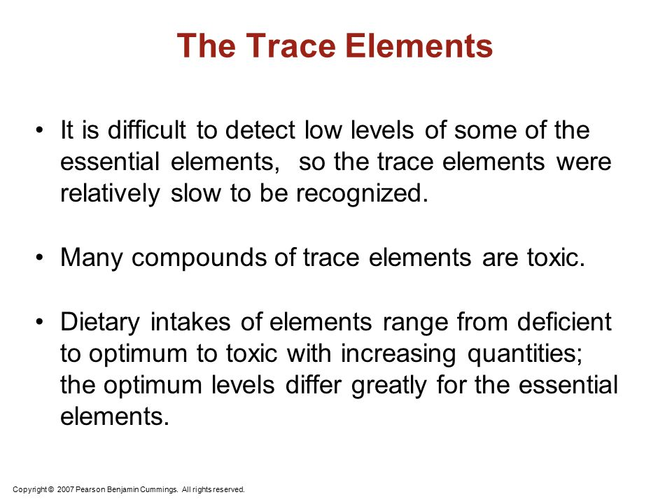 The Trace Elements