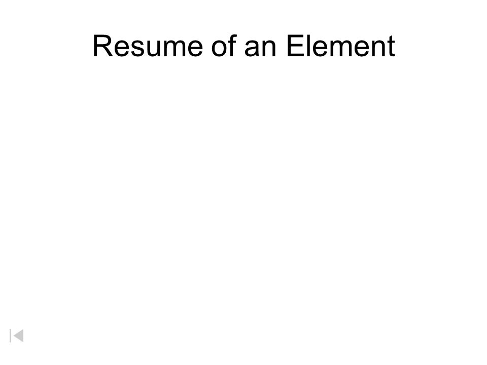 Resume of an Element