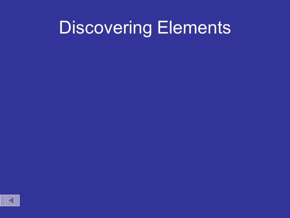 Discovering Elements