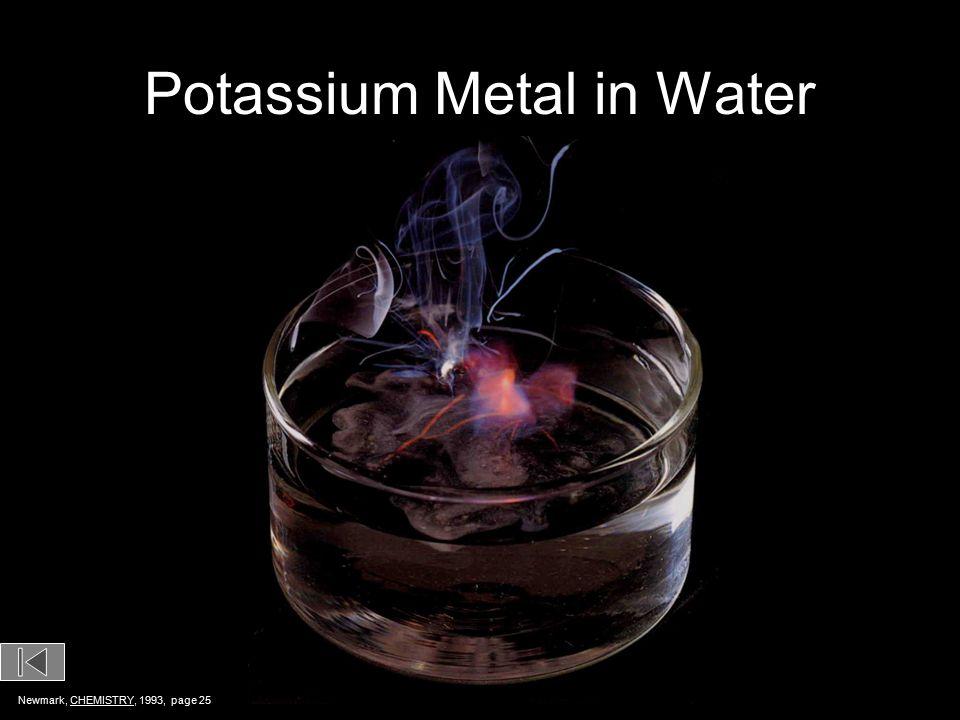 Potassium Metal in Water