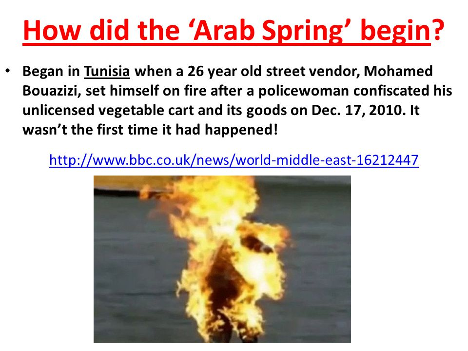 The Arab Spring. - ppt download Arab Spring Man On Fire