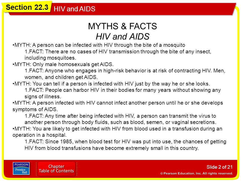 MYTHS & FACTS HIV and AIDS