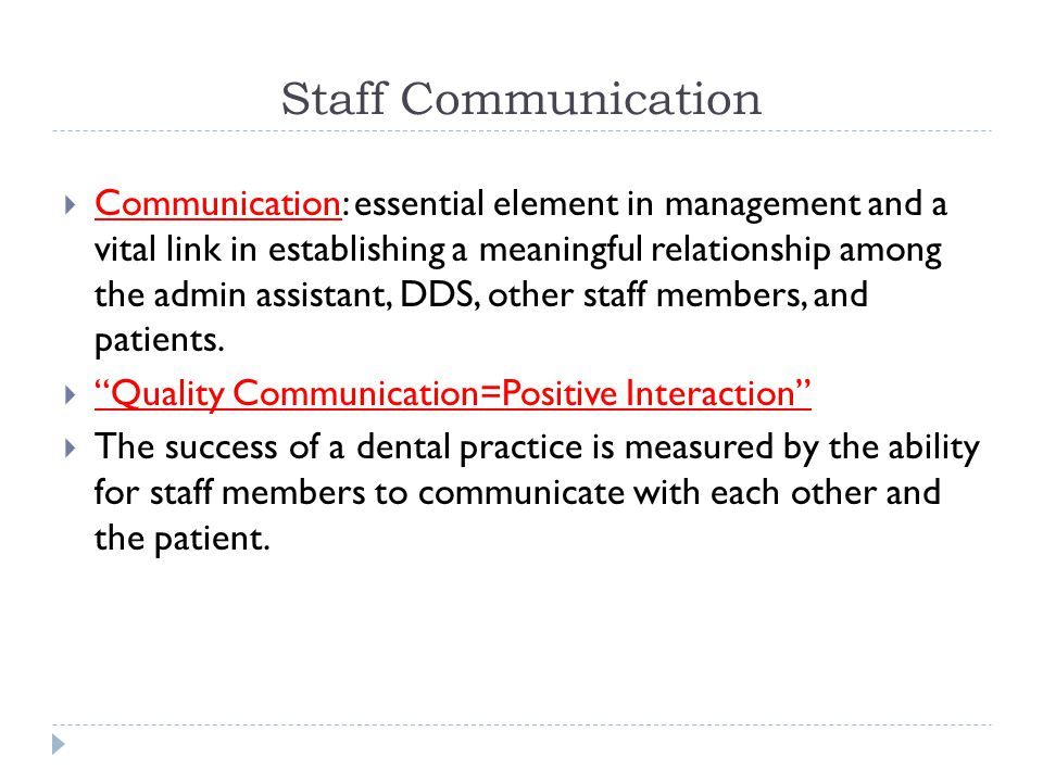 Staff Communication