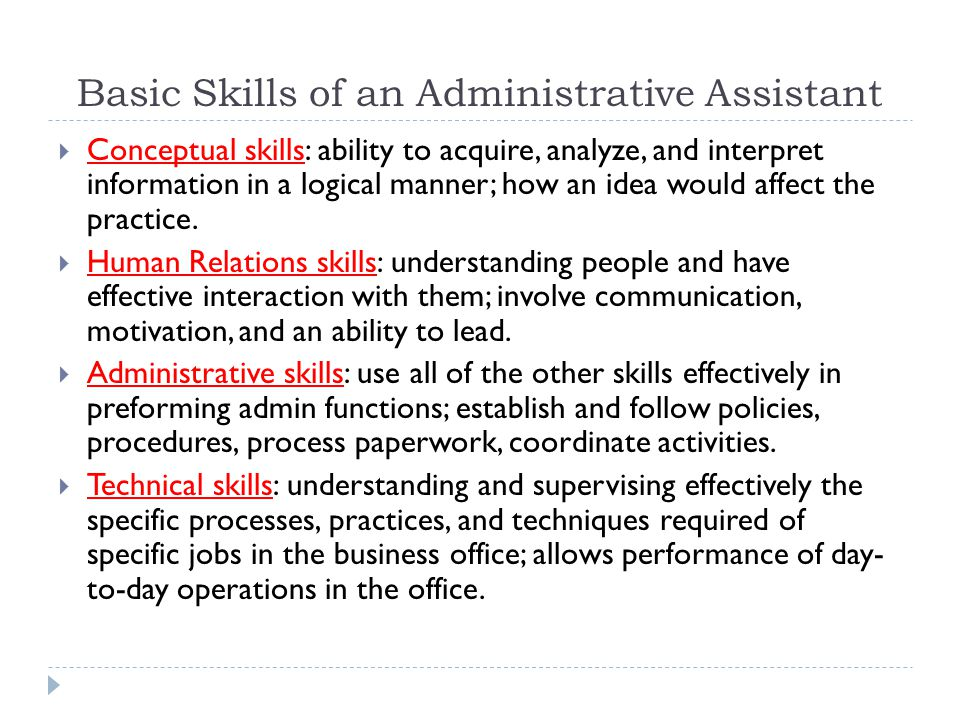 Basic Skills of an Administrative Assistant