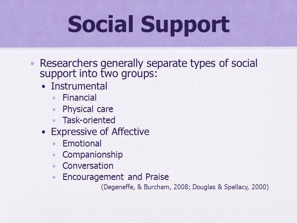 types of social support pdf