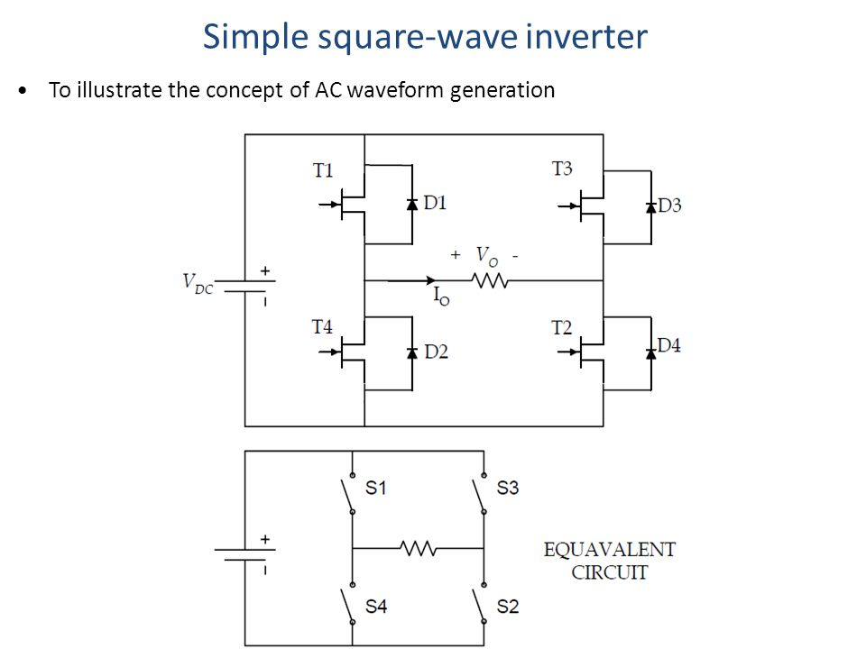 Simple square-wave inverter