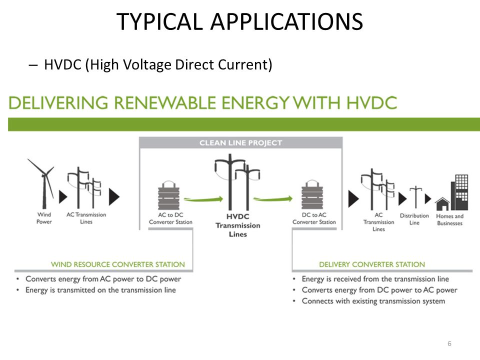 TYPICAL APPLICATIONS HVDC (High Voltage Direct Current)