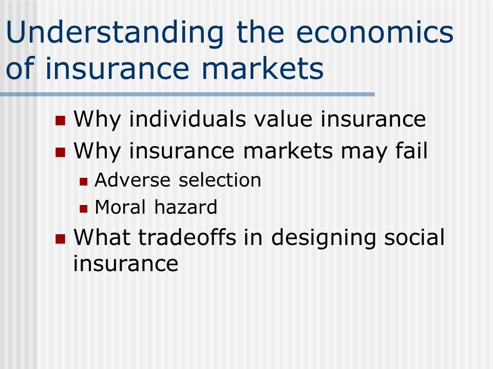 adverse selection versus moral hazard Moral hazard and adverse selection are two terms used in economics, risk management and insurance to describe situations where one party is at a disadvantage adverse selection occurs when there's .