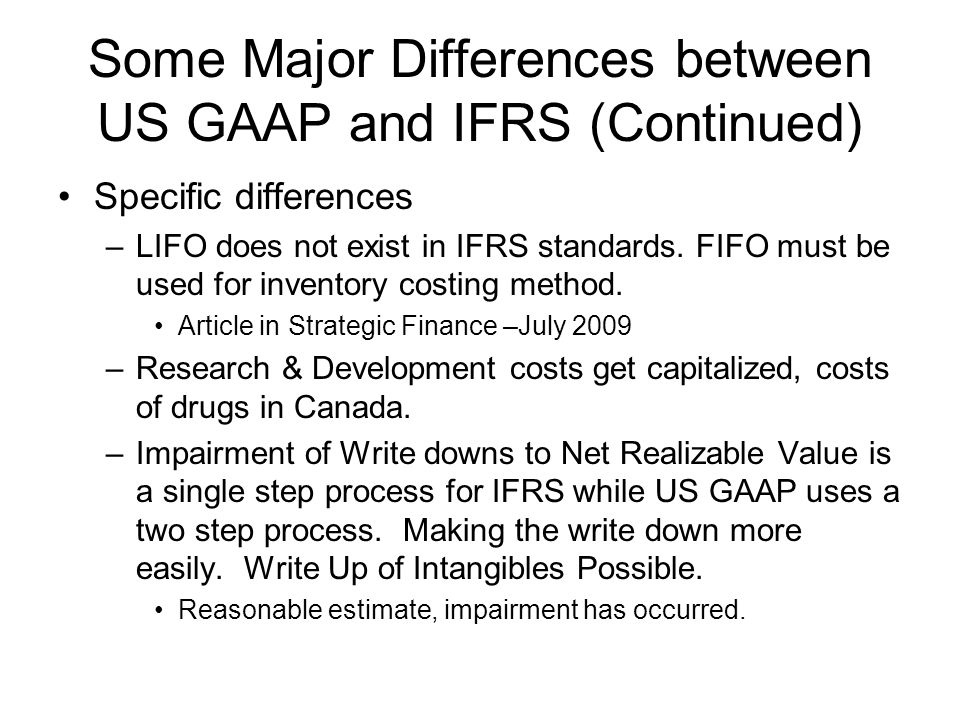 canadian gaap ifrs comparison series Public sector accounting standards plus the section 4400 series of npo-specific   your npo is compared to other international  between current canadian  accounting standards and ifrs / accounting standards for npos.