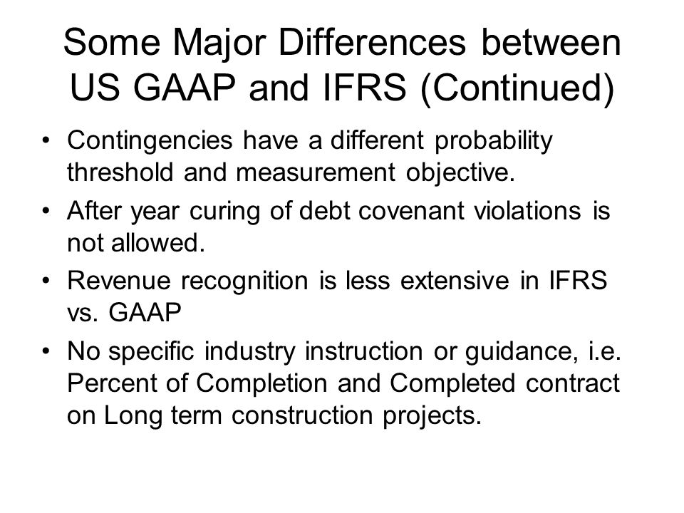 differences between nigerian gaap and ifrs Comparability and trend analyses was impaired as the differences between ifrs and local generally accepted accounting principles nigeria gaap (ngaap) to ifrs.