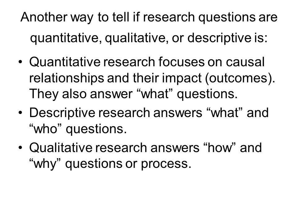Is a prospective study qualitative or quantitative