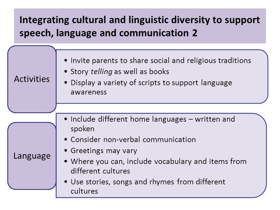 cultural diversity speech