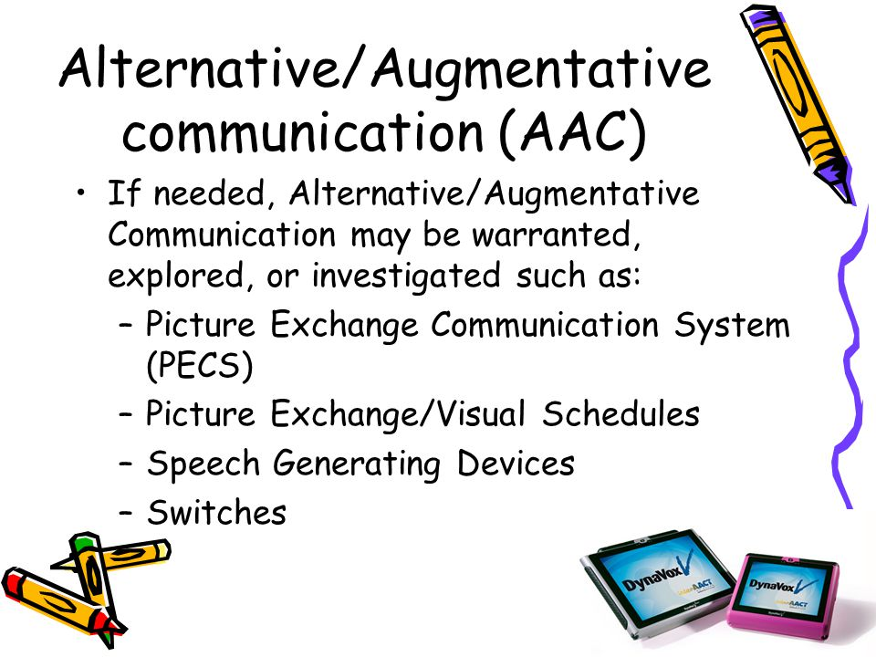 special education augmentative communication Sped 6011: integrating technology into special education csdi 6117:  alternative and augmentative communication another elective approved by the .