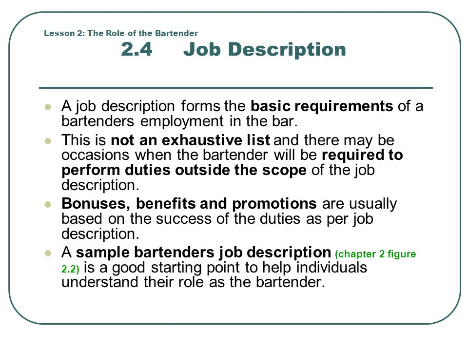 The advantages of the job of a waiter or waitress