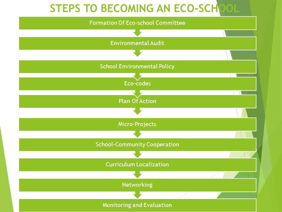 how to become an eco school