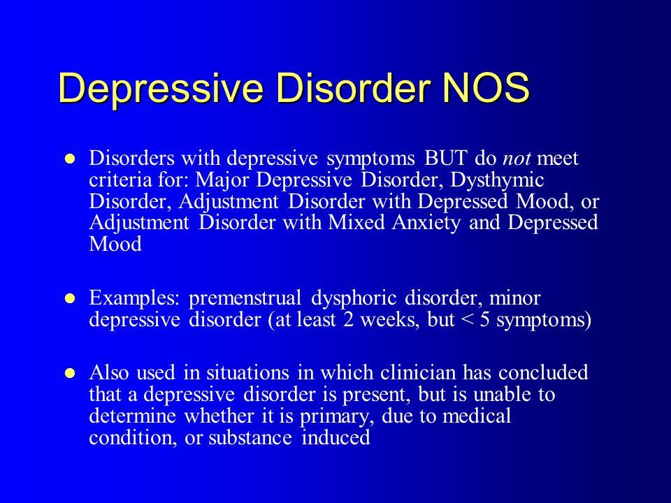 the depressive disorder an overview Depressive personality disorder: a critical overview • bagby et al 17 the dsm adopted a categoric approach, but early edi-tions were still heavily influenced by.