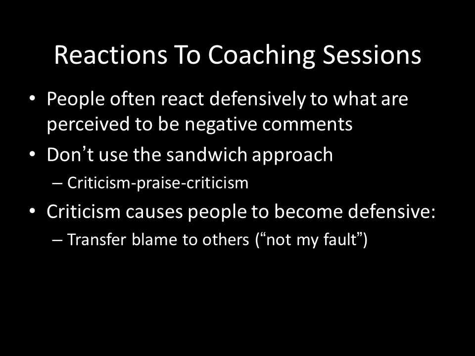 Reactions To Coaching Sessions