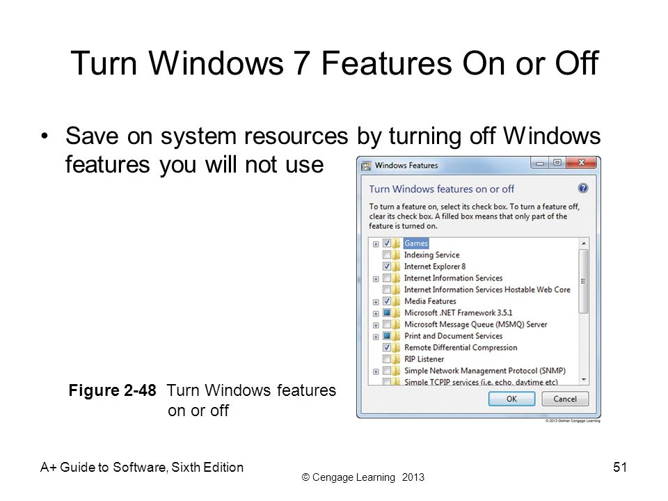 Turn Windows 7 Features On or Off