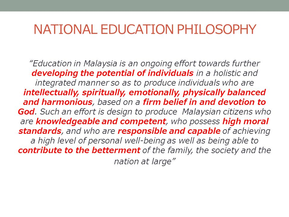 Education system in malaysia the school curriculum curriculum national education philosophy malvernweather Image collections