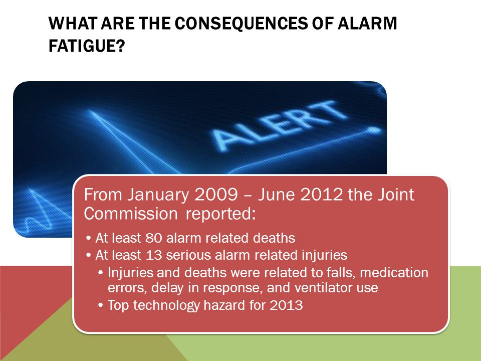alarm fatigue a concept analysis Alarm fatigue in health care a concept analysis chamberlain college of nursing nr-501 theoretical basis for advanced nursing practice alarm fatigue in.