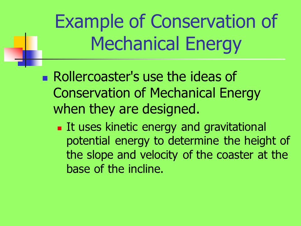 Conservation of Energy... Formula Of Mechanical Energy