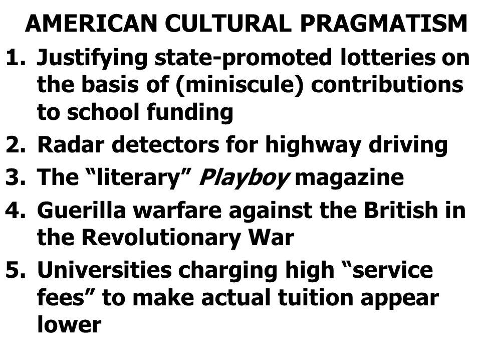 AMERICAN CULTURAL PRAGMATISM