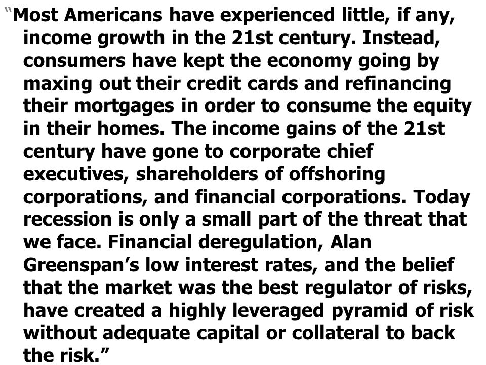 Most Americans have experienced little, if any, income growth in the 21st century.