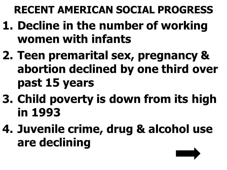 RECENT AMERICAN SOCIAL PROGRESS