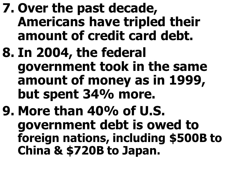 Over the past decade, Americans have tripled their amount of credit card debt.