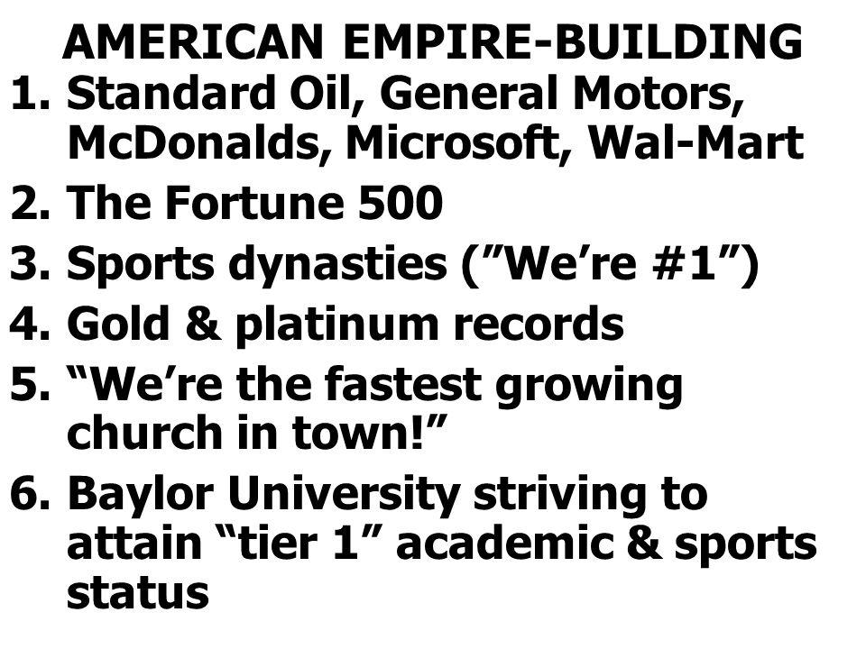 AMERICAN EMPIRE-BUILDING