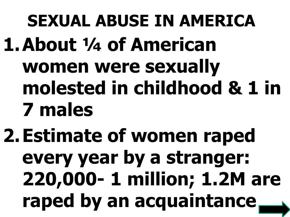 SEXUAL ABUSE IN AMERICA