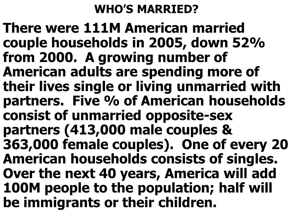 WHO'S MARRIED