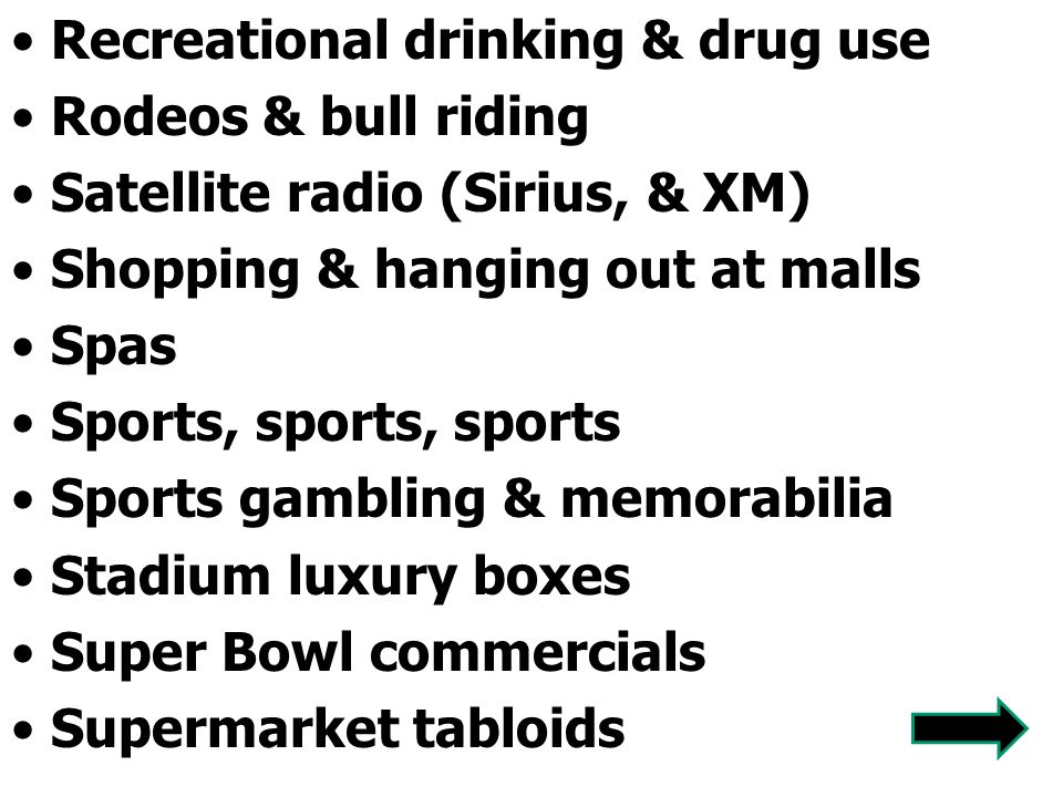 Recreational drinking & drug use