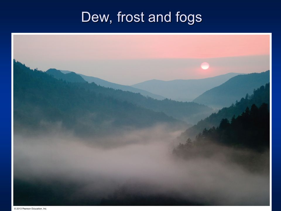 dew frost and fogs ppt video online download. Black Bedroom Furniture Sets. Home Design Ideas