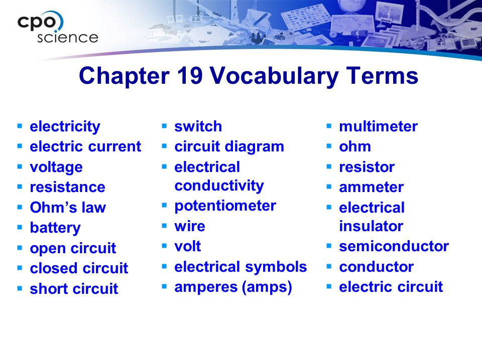 Chapter 19 terms